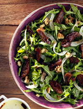 Arugula Salad with Figs & Walnuts