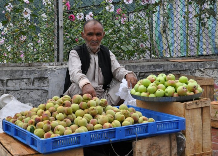 Kashmiri apple vendor
