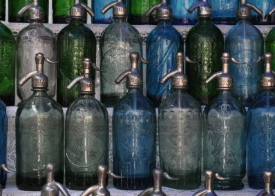 Old Soda Bottles at San Telmo Antique Market