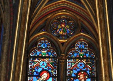 Stained Glass Window at the Sainte Chappelle