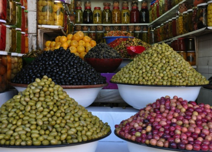 Stall Selling Olives in Souk