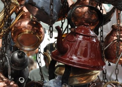 Tea Kettles at San Telmo Antique Market