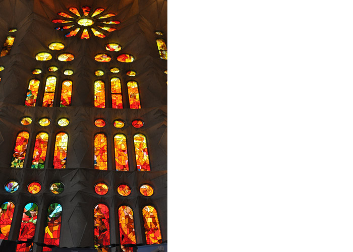 Stained Glass Window at the Sagrada Familia