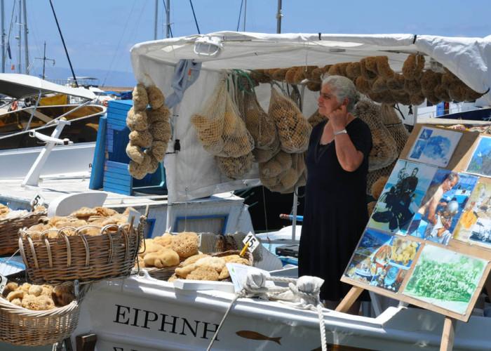 Selling Loofahs, Chania, Crete