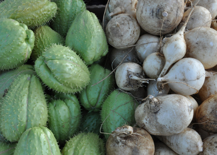 Chayotes & Turnips, Fort Mason Farmers Market, San Francisco