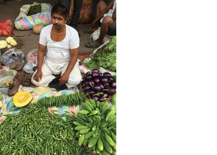 Vegetable Market - India, August 2015