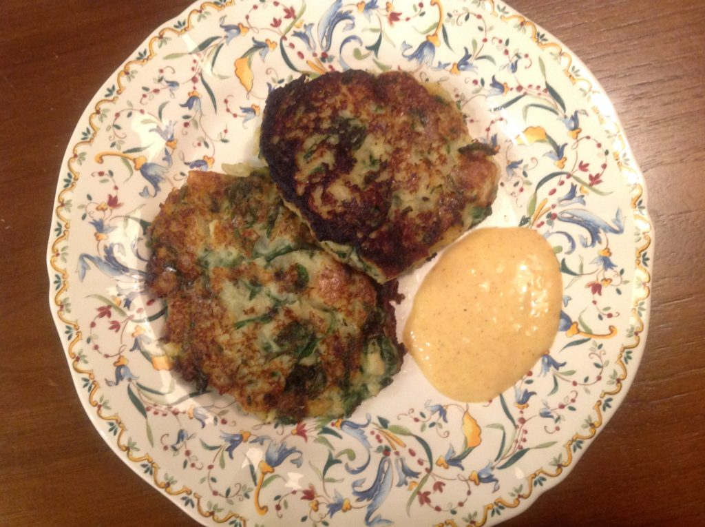 Potato,-Celery-Root-and-Spinach-Patties