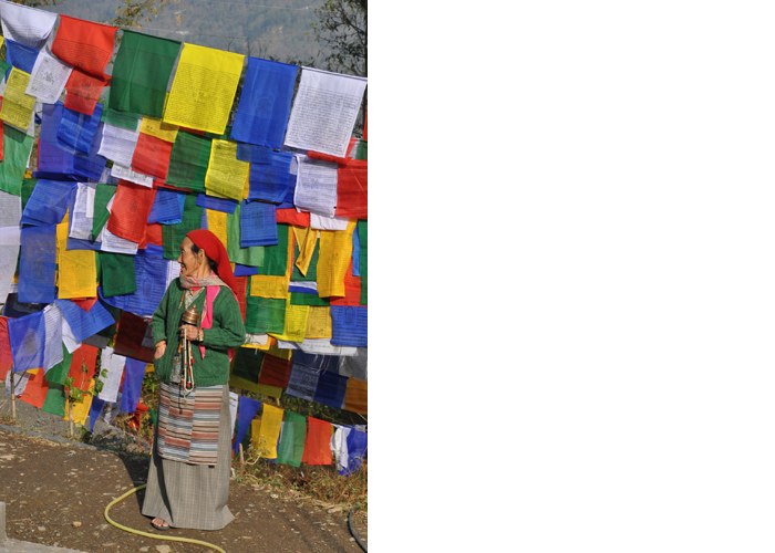 Tashiding Monastery Prayer Flags