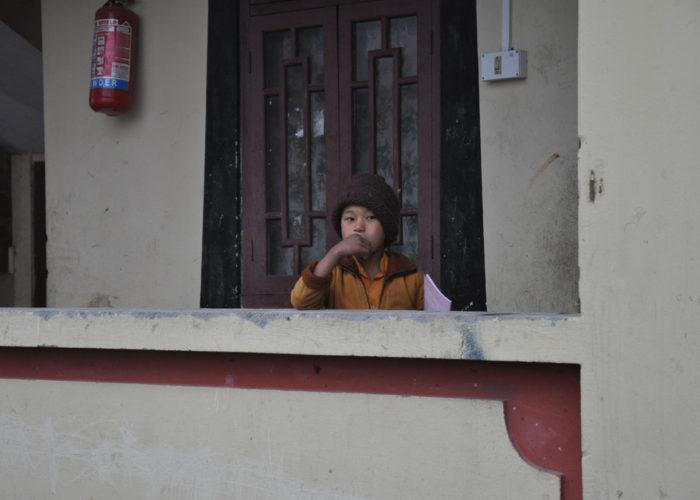 Student, Tsuklakhang Monastery, Gangtok, Sikkim