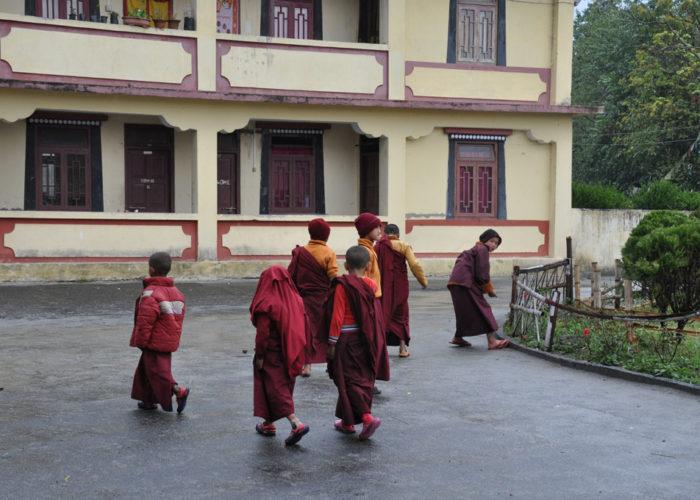 Students, Tsuklakhang Monastery, Gangtok, Sikkim