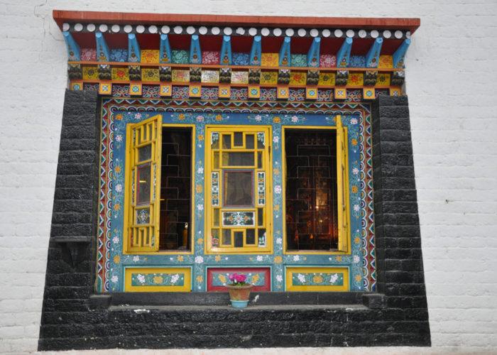 Window, Tsuklakhang Monastery, Gangtok, Sikkim