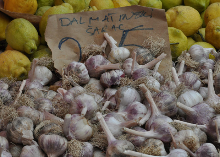 Lemons & Garlic at the Zagreb Market